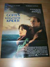 GOTTES VERGESSENE KINDER - Kinoplakat A1 ´87 - WILLIAM HURT Marlee Matlin