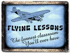 AIRPLANE metal SIGN model FLYING lessons great gift VINTAGE style decor art 029