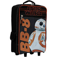 """Disney Star Wars Luggage BB8 Rolling 17"""" inches Pilot Case Luggage NEW Licensed"""