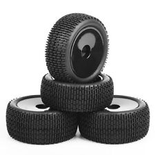 4Pcs RC Front&Rear Rubber Tires &Wheel Rim A02 For 1:10 Buggy Off-Road Car
