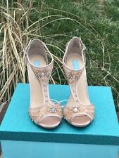 Blue by Betsey Johnson Holly Champagne 8.5 new in box