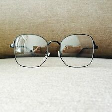 Black Oversized Wayfarer Geek Nerd Retro Vintage Metal Glasses 60s 80s