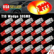 20 X Pure Red Wedge T10 30-SMD Interior LED Light bulbs W5W 2825 158 192 194 168