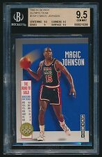 1992-93 Skybox Olympic Team #USA12 Magic Johnson BGS 9.5 Gem Mint