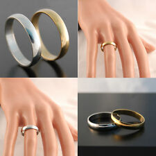 50pcs Silver Golden 4mm Band Stainless Steel Wedding Rings Wholesale Jewelry Lot