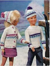 "11"" - 12""  Dolls clothes knitting pattern. .Laminated  copy. (V Doll 159)"