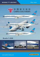 TOPTIERHOBBY Decal 1/200 Boeing 777-200/300/F - China Southern Airlines