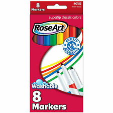 Rose Art 8 Count Supertip Classic Colors Markers 4 Pack NEW Supplies Crafts
