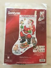 Janlynn SANTA ANIMALS Stocking Counted Cross Stitch 2004 NEW NWT Christmas