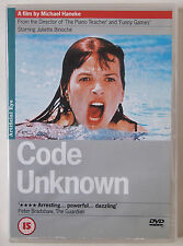 CODE UNKNOWN / MICHAEL HANEKE / JULIETTE BINOCHE / ENGLISH SUBTITLES / RGN 2 PAL
