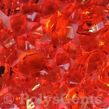 50 mixtos de acrílico rojo Hielo trozos Florero Rellenos Boda Cuadro Decoraciones