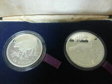 Malaysia Silver Proof Coin set of 2 1976 with cert and BLUE box