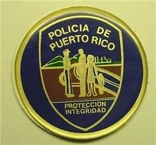 "POLICIA de PUERTO RICO BLUE 2"" EPOXY CAR EMBLEM STICKER NEW"