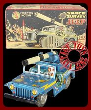 1955 TOYMASTER Space Survey Jeep Tin with Pro Repro Box JAPAN VERY SCARCE