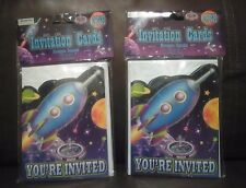 Space Traveler  Party Invitation Cards Set of 16
