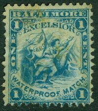 USA : 1864. Scott #RO83u Ultramarine. Creases. Rare stamp. Catalog $900.00.