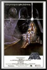 Star Wars A New Hope Movie Poster in Black Wood Frame 24x36