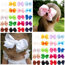 20 Pcs Baby Girls Hair Bows Boutique Hair Grosgrain Ribbon Alligator Hair Clips