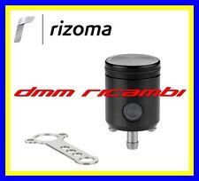 Serbatoio Olio Freno/Frizione Moto RIZOMA CT017 attacco dritto in alluminio Nero