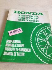 supplément manuel atelier Honda  CB750 CB 750 K F C KB FB CB Shop manual éd. 81