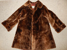 Great Vintage Medium Large Brown Sheared Beaver? Fur Coat Jacket Brandenburg