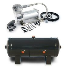 Viair 400C 150 PSI Max Compressor W/ 2 G 6 Port Tank Air Ride Train Horns,Tires