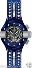 Invicta 19178 S1 Rally Men's Dark Blue Leather 52mm Watch Chronograph