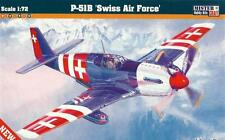 P 51 B MUSTANG SWISS AF (1 x SWISS & 3 x USAAF ACES MARKINGS) 1/72 MASTERCRAFT