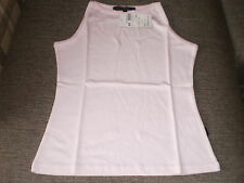 Miss Posh High Neck Ladies Vest Size: 10 (UK) S Colour Pink New With Tags
