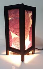 free ship ART DECOR PURPLE LEAVES ASIAN STYLE BEDSIDE TABLE LAMPS LIGHTING GIFT