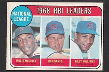1969 O-Pee-Chee # 4 Willie McCovey/ Ron Santo/ Billy Williams RBI Leaders Single