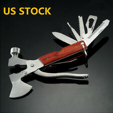 Multi-function Outdoor Camping Emergency Survival Tools Axe Hatchet Hammer USA