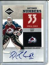 Patrick Roy 11/12 Panini Limited Autograph #12/25