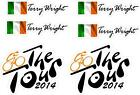 Bike Frame Stickers Personalised Name Ireland Flag Cycling Decal The Tour 2014