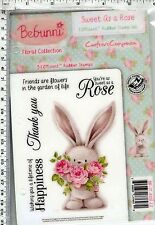 Sweet as a Rose #647 Bebunni by Crafter's Comp rubber cling stamps   bunny