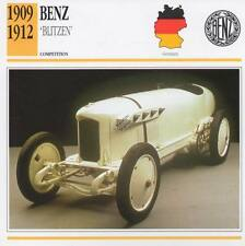 1909-1912 BENZ Blitzen Racing Classic Car Photo/Info Maxi Card