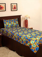 Homefab India Cotton Single Bed-Sheet with 1 Pillow Cover (Single158)