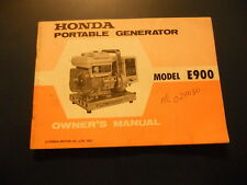 Honda Owners Manual Portable Generator E900 Model