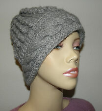 Brand New Made In Peru Alpaca Blended Crochet Knitted Hat From In Gray