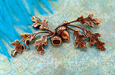 ANTIQUE COPPER Woodland Oak Leaf Spray Acorn Stamping~ Jewelry Findings (C-1305)