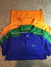 SET OF 3 NIKE PERFORMANCE POLO GOLF SHIRT XXL MENS SEE PICS FOR COLORS kd1