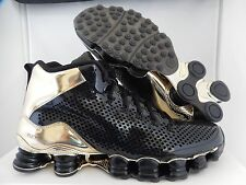 NIKE SHOX TLX MID SP NIKE LAB BLACK-METALLIC GOLD SZ 9 [677737-002]