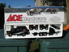 1 18 ERTL ACE HARDWARE CHEVY SUBURBAN WITH TRAILER AND TWO ATV'S SET