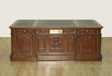 7ft Mahogany Leather Presidential Oval Office Resolute Desk  D500-F-1150-58