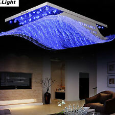 Modern Hot LED Lighting Chandelier K9 Crystal Ceiling Light Remote Control Lamp
