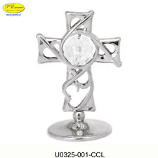 SILVER CROSS CRYSTOCRAFT SWAROVSKI ELEMENTS