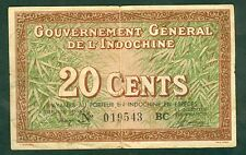 GOUVERNEMENT GENERAL DE L'INDOCHINE 20 CENTS  ETAT : TB  LOT 66