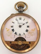 VERY NICE / VINTAGE HEBDOMAS 8 DAYS POCKET WATCH, GREAT DIAL, WORKING.