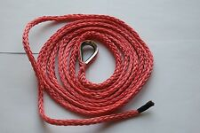 """Red 3/16""""*10ft Synthetic Snow Plow Lift Rope,ATV Winch Rope,Synthetic Rope Cable"""