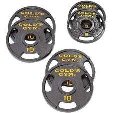 Golds Gym Weight Plate Set 50 lbs Olympic Home Training Barbell Gym Workout New